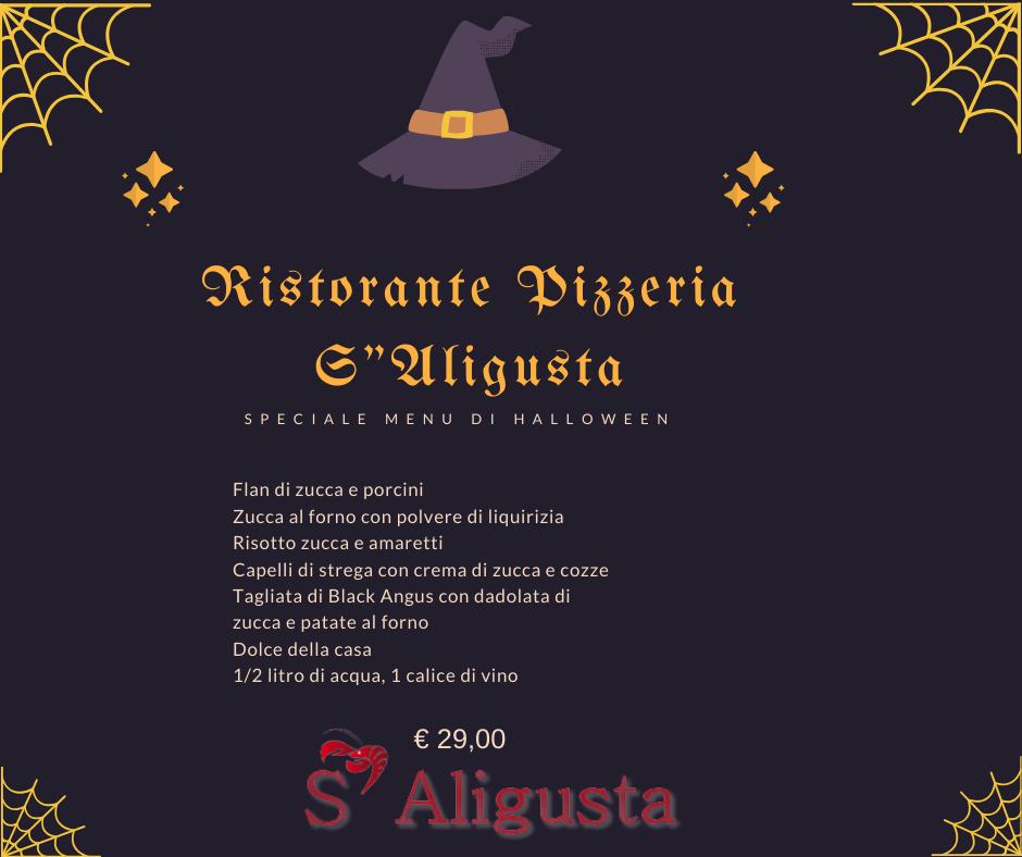 Menu di Halloween 2019 al Ristorante Pizzeria S'Aligusta a Padova