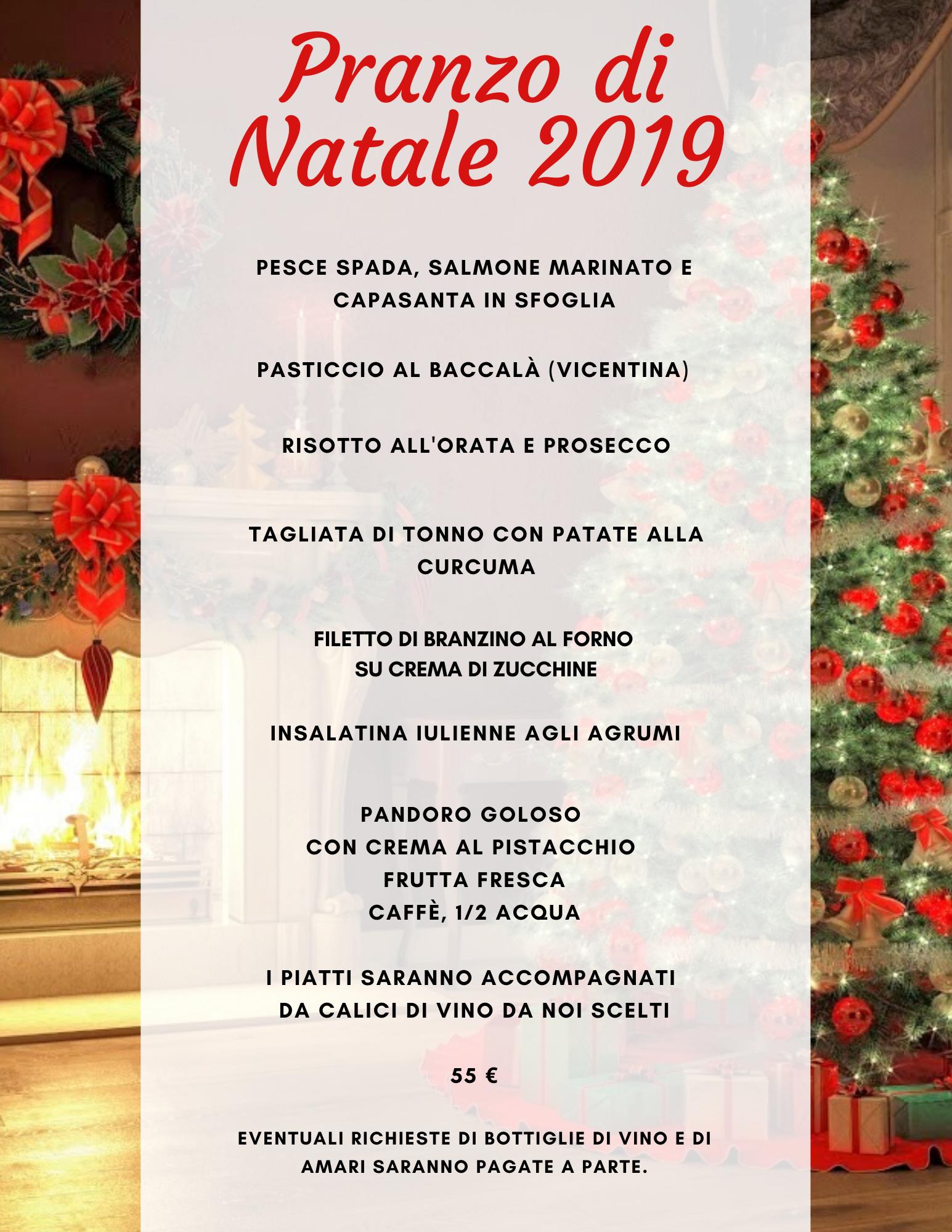 pranzo Natale 2019 menu di pesce